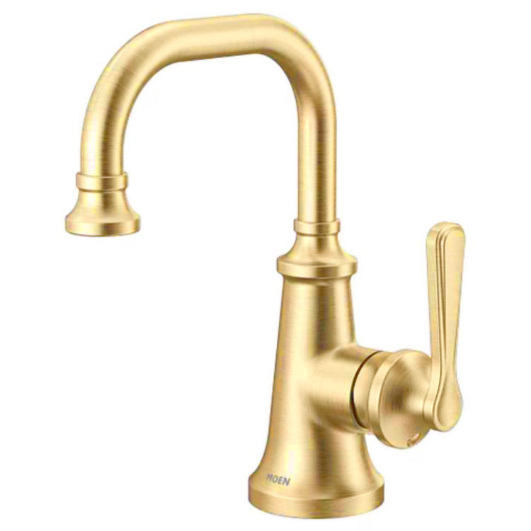 moen s44101bg colinet one handle lavatory faucet brushed gold