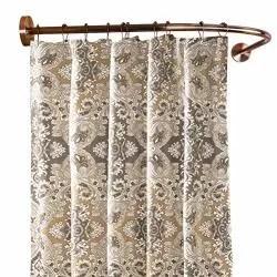 shower curtain curved rod l shaped corner bath curtain rail bar wall mounted metal shower pole bronze bathroom corner bracket never rust 100 120cm