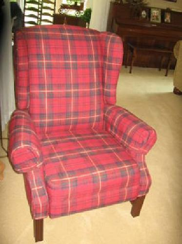 hickory chair co graco swing vibrating $100 wingback recliner, red plaid beauty! for sale in export, pennsylvania classified ...