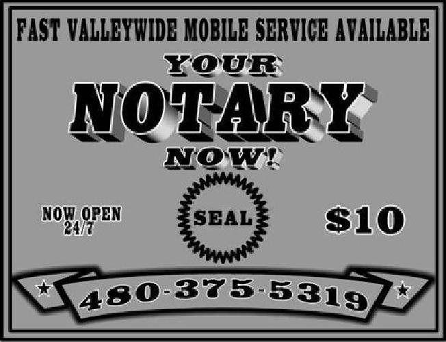 $10 Sell then call fast mobile Notary service [phone