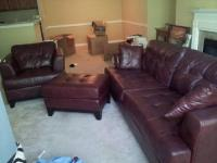 $1,200 Beautiful Wine Colored Leather 3 piece Living Room ...