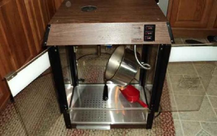 iron table and chairs set fishing bed chair dimensions $300 popcorn machine star manufacturing model 39 d-a woodgrain counter top for sale in ...