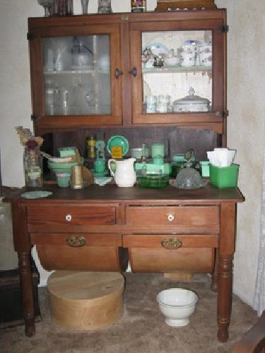 350 Antique Bakers Cabinet Possum Belly Kitchen for sale