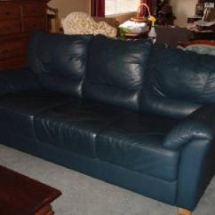 Chesterfield Sofa Bed Reliance Living Sets $350 Beautiful Deep Teal Blue Leather For Sale In ...