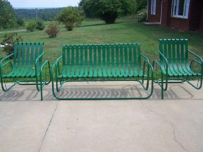 wide glider chair black and white chairs living room $375 vintage metal porch with 2 for sale in walnut cove, north carolina classified ...