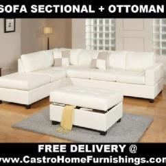 Sectional Sofas Orange County Ca Milan Garden Sofa Set $670 100% New! ~~~ White Leather + Ottoman ...