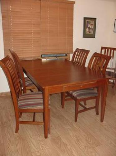 820 Ethan Allen American Impressions Dining Table and 6