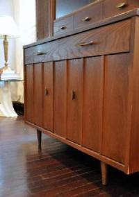 Vintage Danish Modern Buffet Credenza Dresser & Hutch ...