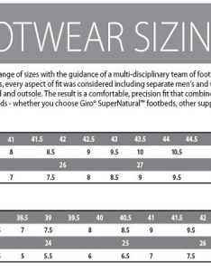 Giro footwear size guide also sportpursuit great deals on kit up to off rh