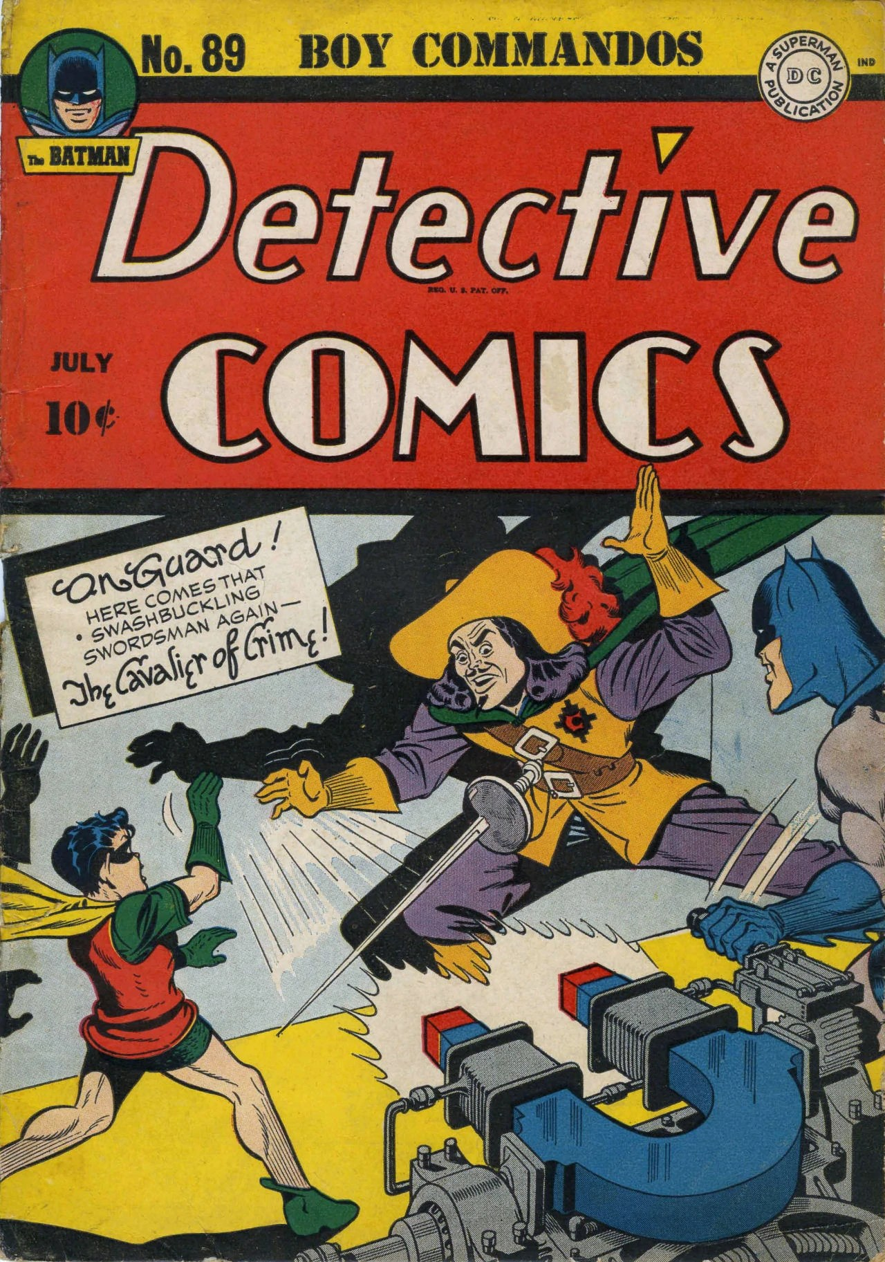 On Guard? Was it against the Comics Code to include French on the cover back then?