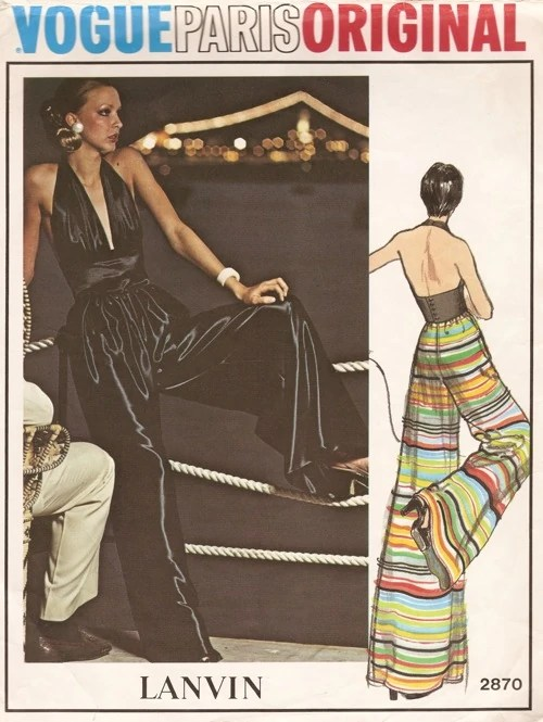 Vogue 2870 by Lanvin (1973) Evening top and pants