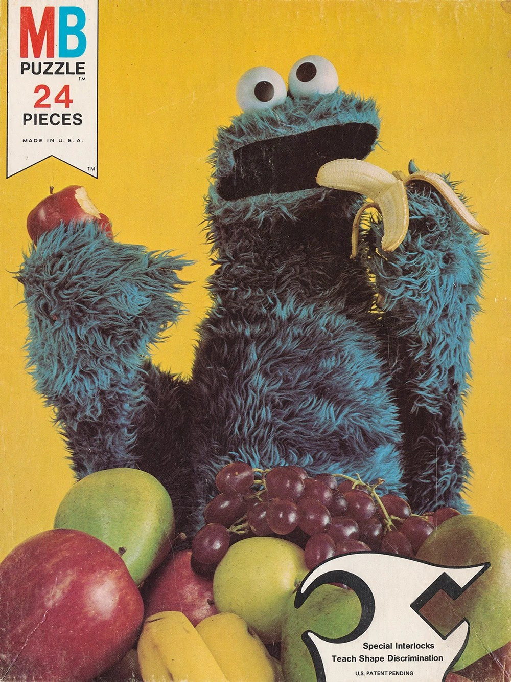 Cookie Monster eating fruit instead of cookies