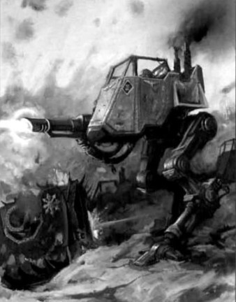 Sentinel on guard from the Warhammer 40k Wiki