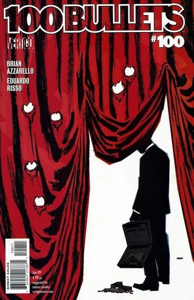 The cover of issue #100 of 100 Bullets.