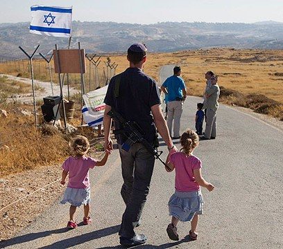 Israelisch-jüdische Siedler in Migron. Das Siedlungsprojekt wird innerhalb Israels heiss diskutiert.