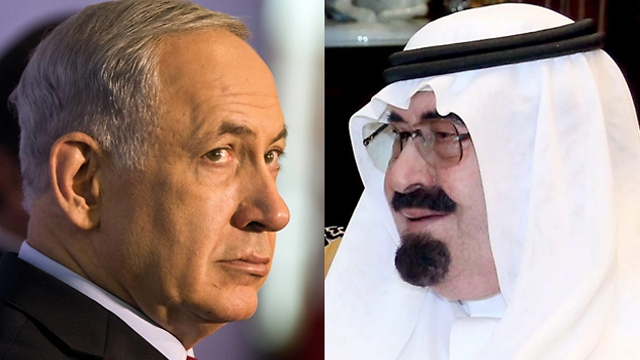 Secret talks? Israeli PM Netanyahu, Saudi King Abdullah (Photos: EPA, AP)