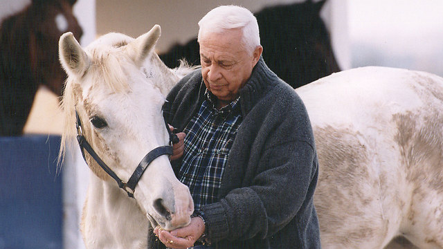 Sharon on his farm (Photo: Michael Kremer)