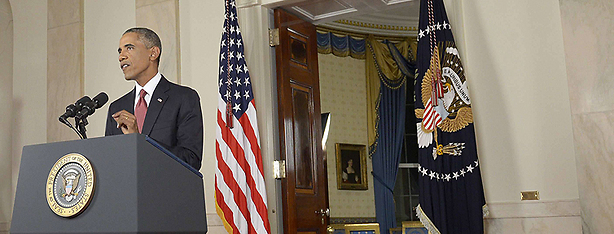Obama addresses the nation from the White House (Photo: AFP)