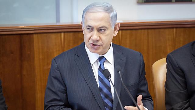 Prime Minister Netanyahu, no surprises, just clichés (Photo: Emil Salman)
