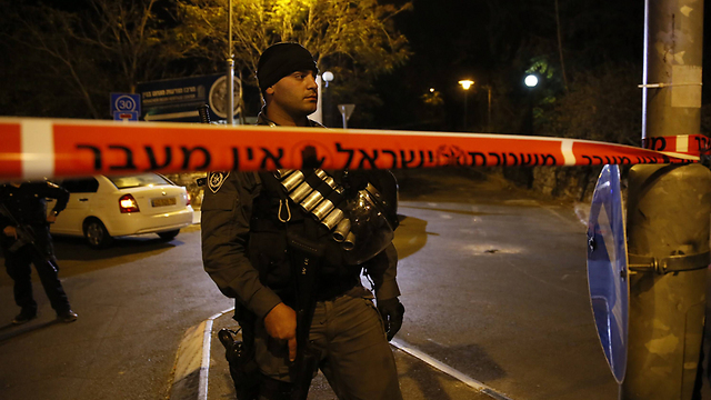 The scene of the assassination attempt of Rabbi Yehuda Glick on Wednesday night in Jerusalem. (Photo: AFP)