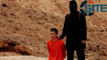 Jihadi John with Japanese hostage