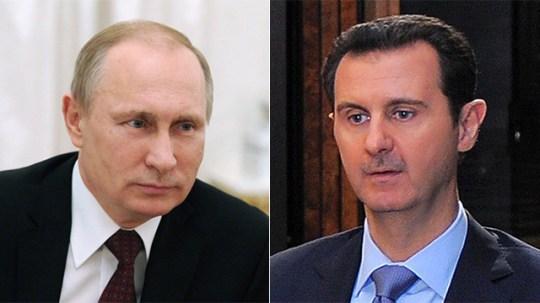 Putin and Assad. Allies no more. (Photos: EPA and AFP)