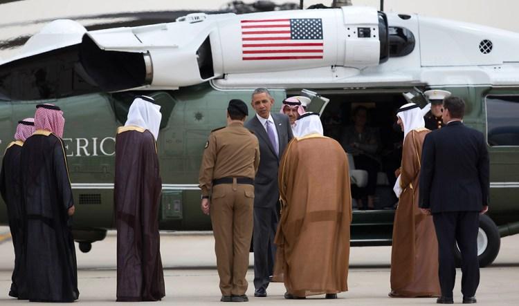 ומי לא בא? המלך. נחיתת אובמה בסעודיה (צילום: AP)