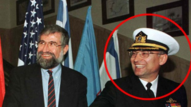 Akin Ozturk during his tenure as military attache with Israeli politician Amram Mitzna