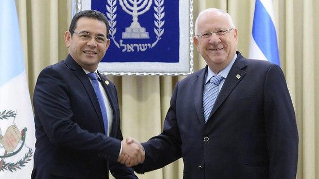 На встрече президентов в Иерусалиме. Фото: Марк Неаман