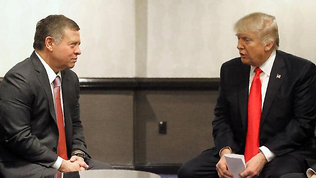 President Trump and Jordan's King Abdullah, last week (Photo: AFP, Yousef Allan)