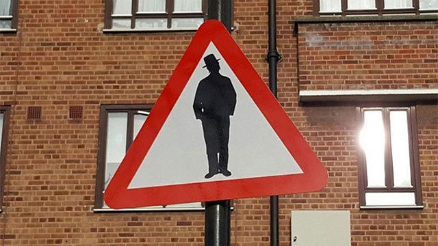 Beware of Jews sign (Photo: Shomrim Twitter account)
