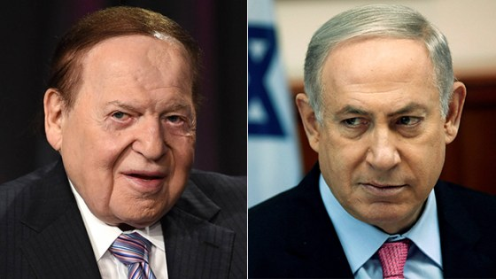 Adelson (L) and Netanyahu (Photos: Reuters, AFP)