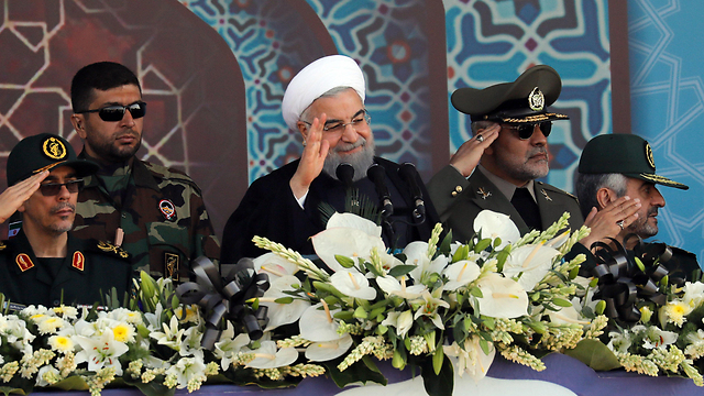 President of Iran Hassan Rouhani, during a ceremony commemorating 37 years since the Iran-Iraq war (Photo: EPA)