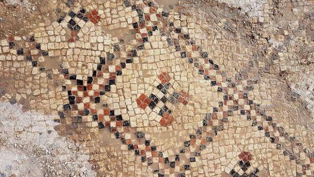 Фрагмент мозаики. Фото: Анат Расюк, Управление древностей