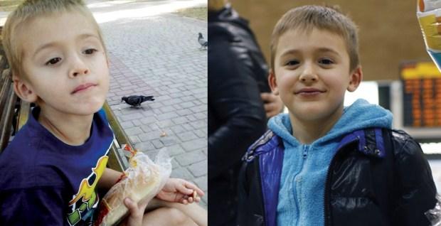 Матвей до и после приезда бабушки. Фото из личного архива и Амит Шааль