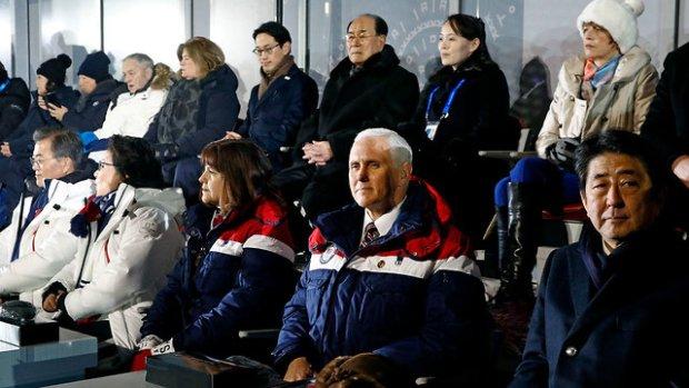Вице-президент США Майк Пенс прибыл на открытие Олимпиады. Фото: АР