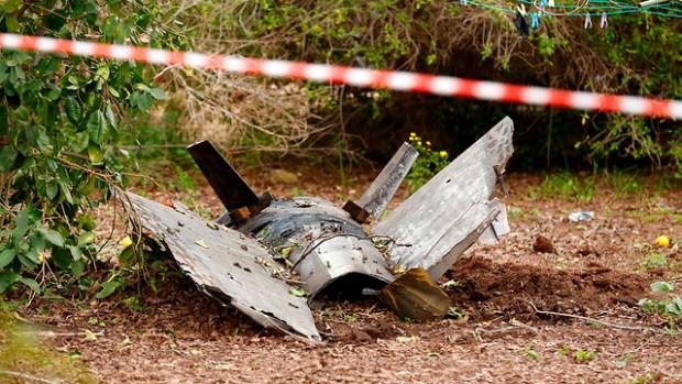 Осколки ракеты. Фото: AFP (Photo: AFP)