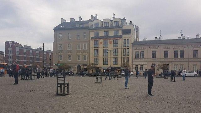 The Krakow deportation memorial (Credit: Ron Nutkin)