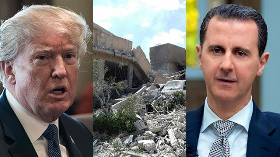 Trump and Assad. The Americans were so cautious, that the facility for the production and storage of chemical substances in Latakia wasn't attacked, because of the Russian presence there (Photo: AP, AFP)
