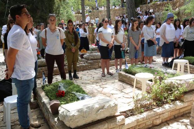 День памяти павших в войнах Израиля. Фото: Гилель Меир/TPS (Photo: Hillel Meir/TPS)