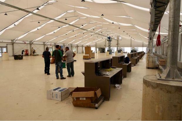Терминал-шатер в аэропорту Бен-Гурион. Фото: Дани Саде