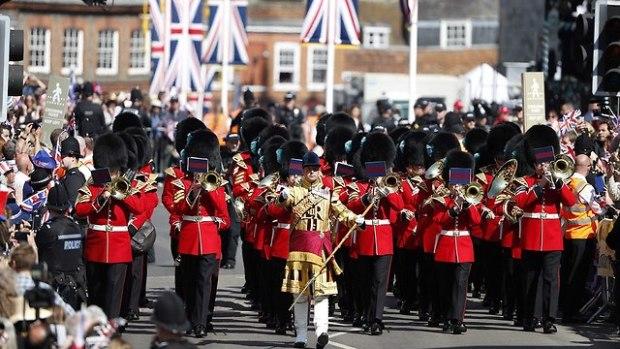 Оркестр королевских гвардейцев. Фото: AFP