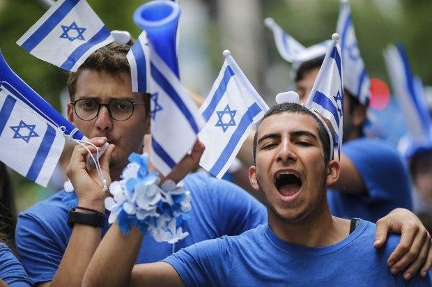 Нью-Йорк отмечает 70-летие Израиля. Фото: AFP