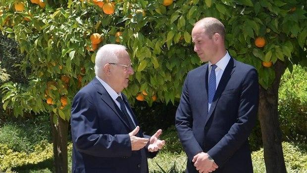 Рувен Ривлин и принц Уильям. Фото: Амос Бен-Гершом/ЛААМ (Photo: Amos Ben Gershom/GPO)