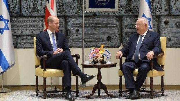 Принц Уильям и президент Ривлин. Фото: Амос Бен-Гершом/ЛААМ (Photo: Amos Ben Gershom/GPO)