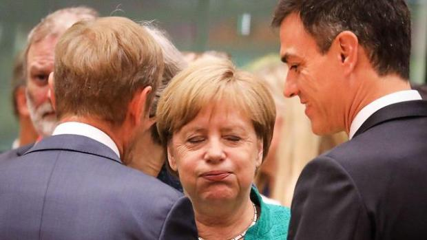 Меркель продолжала говорить об ответственности ЕС в отношении беженцев. Фото: AFP