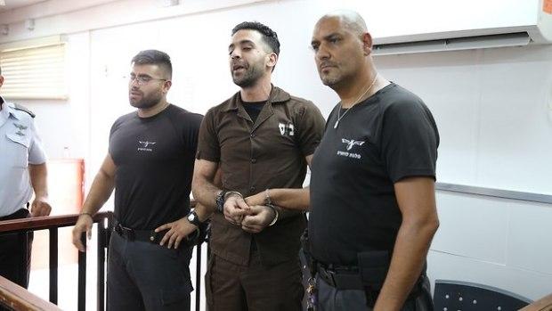 Террорист в зале суда (Photo: Amit Shabi)