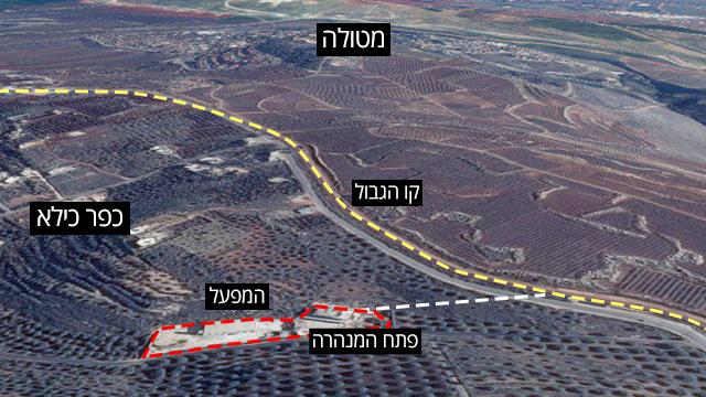 Tunnels d'informations graphiques du Liban à Israël ()