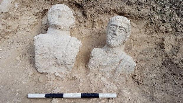 Римские бюсты из Бейт-Шеана. Фото: д-р Эйтан Кляйн, Управление древностей