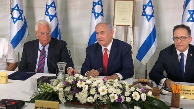 Заседание правительства на Голанских высотах. Фото: Matty Stern, U.S. Embassy Jerusalem